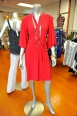 This vibrant red dress with balloon sleeves camouflages your flaws and highlights your assets. NY Collection Dress $58